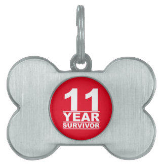 11 year survivor pet name tag