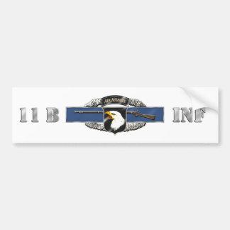 11B 101st Air Assault Division Bumper Sticker