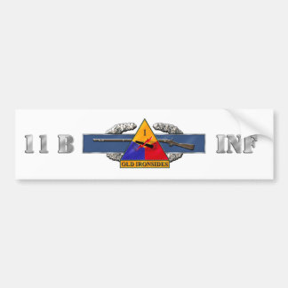 11B 1st Armored Division Car Bumper Sticker