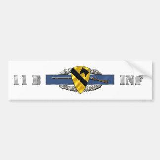 11B 1st Cavalry Division Car Bumper Sticker
