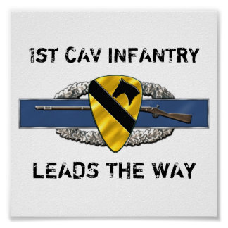 11B 1st Cavalry Division Poster