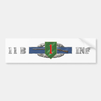 11B 1st Infantry Division Bumper Sticker