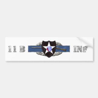 11B 2nd Infantry Division Bumper Sticker