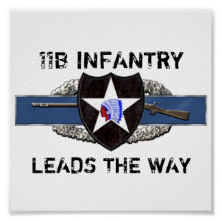 11B 2nd Infantry Division Poster