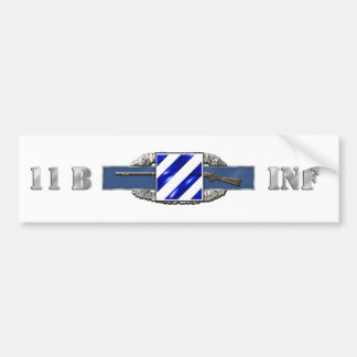 11B 3RD Infantry Division Bumper Sticker