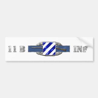 11B 3RD Infantry Division Car Bumper Sticker