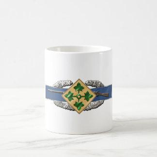 11B 4th Infantry Division Classic White Coffee Mug