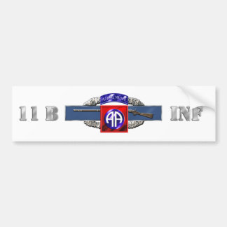 11B 82nd Airborne Division Car Bumper Sticker