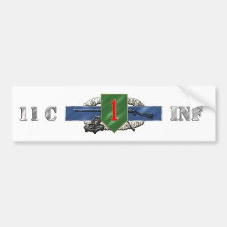 11C 1st Infantry Division Bumper Sticker