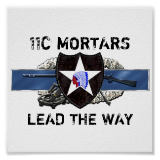 11C 2nd Infantry Division Poster