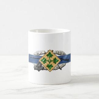 11C 4th Infantry Division Classic White Coffee Mug