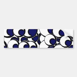 11eyeballs EYES EYEBALLS BLACK BLUE IRIS WHITE DIG Bumper Sticker