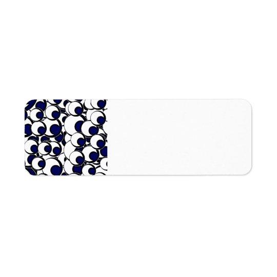 11eyeballs EYES EYEBALLS BLACK BLUE IRIS WHITE DIG Label