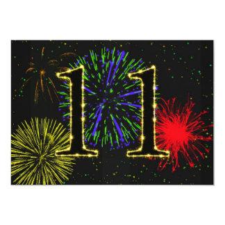 11ma invitación de la fiesta de cumpleaños invitación 12,7 x 17,8 cm