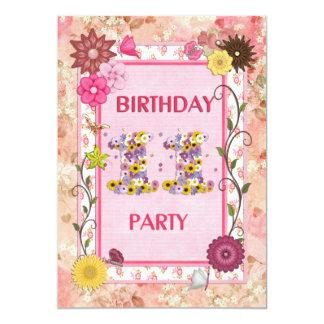 11ma invitación de la fiesta de cumpleaños con el invitación 12,7 x 17,8 cm