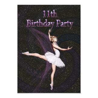 11ma invitación de la fiesta de cumpleaños de la invitación 12,7 x 17,8 cm