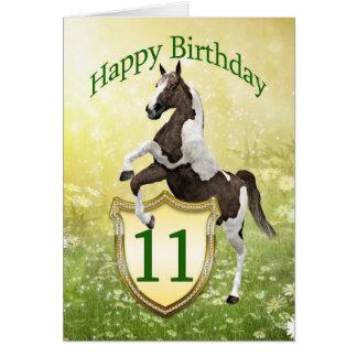 11ma tarjeta de cumpleaños con un caballo que se