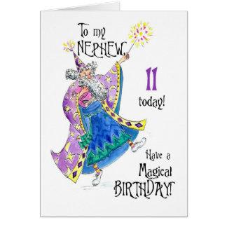 11ma tarjeta de cumpleaños del mago para un