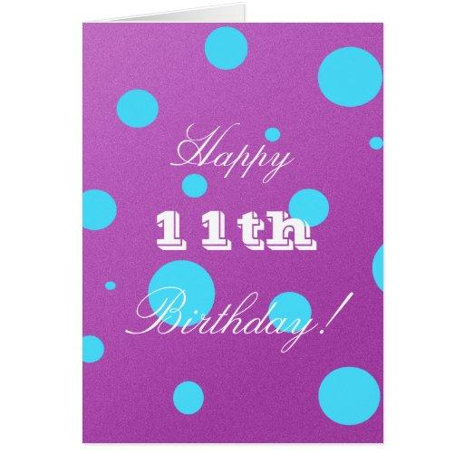 11ma tarjeta de cumpleaños feliz para el chica