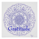 11Mandala 6, Gratitude Poster