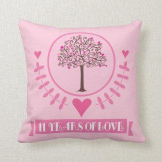 11mo Almohada de tiro del árbol de amor del aniver