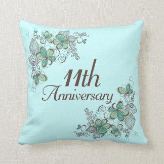 11mo Almohada de tiro del regalo del aniversario