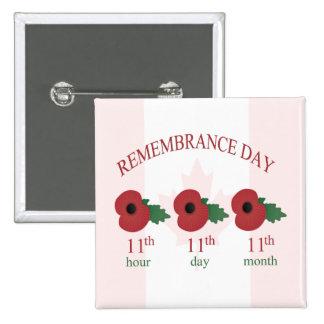 11mo Botón del día de la conmemoración
