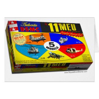 11mo Caja del modelo de los aviones de MEU Tarjeta De Felicitación