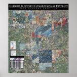 11mo Cong. Mapa de la elección general 2011 (IL-11 Impresiones