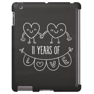 11mo Corazones de la tiza del regalo del Funda Para iPad