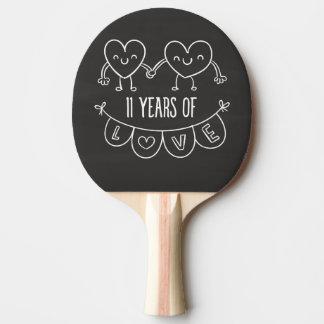 11mo Corazones de la tiza del regalo del Pala De Ping Pong