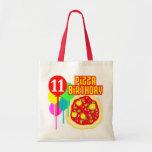 11mo Cumpleaños de la pizza del cumpleaños Bolsas De Mano
