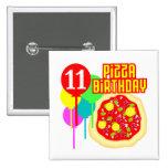 11mo Cumpleaños de la pizza del cumpleaños Pin