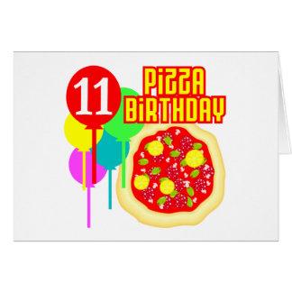 11mo Cumpleaños de la pizza del cumpleaños Tarjeta De Felicitación