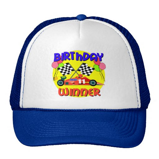 11mo Cumpleaños del coche de carreras del cumpleañ Gorro
