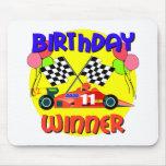 11mo Cumpleaños del coche de carreras del cumpleañ Alfombrilla De Raton