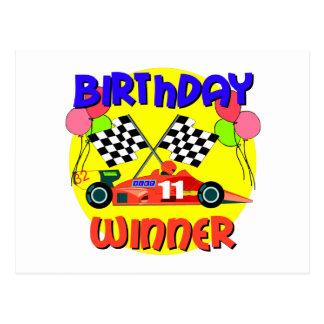 11mo Cumpleaños del coche de carreras del Tarjeta Postal