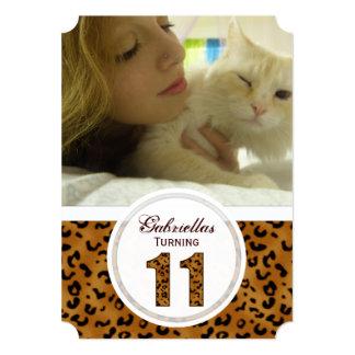 11mo cumpleaños del leopardo: Imagen: Invitación