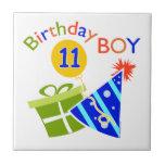 11mo cumpleaños - muchacho del cumpleaños tejas  cerámicas