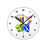 11mo cumpleaños - muchacho del cumpleaños relojes de pared