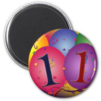 11mo Decoraciones del globo de la fiesta de cumple Imanes