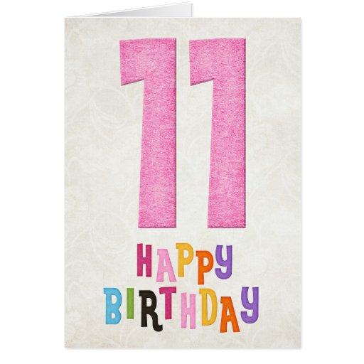 11mo Diseño de tarjeta del feliz cumpleaños del cu