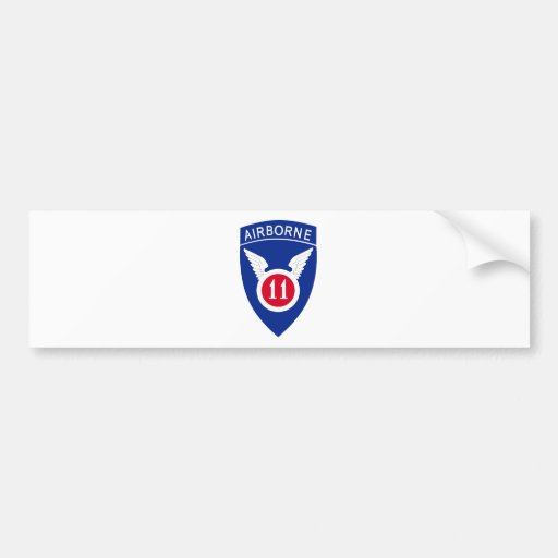 11mo División aerotransportada Etiqueta De Parachoque