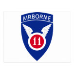 11mo División aerotransportada Tarjeta Postal