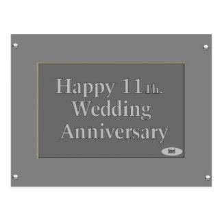 11mo feliz. Acero del aniversario de boda Postales