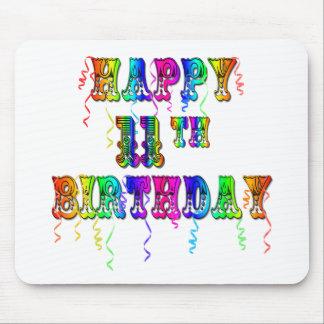 11mo globo feliz Mousepad del cumpleaños
