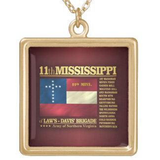 11mo Infantería de Mississippi (BA2) Colgante Cuadrado
