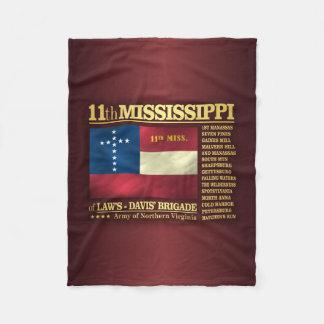 11mo Infantería de Mississippi (BA2) Manta De Forro Polar
