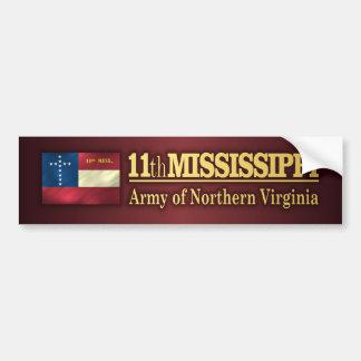 11mo Infantería de Mississippi (BA2) Pegatina Para Auto