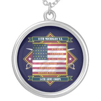 11mo Infantería voluntaria de Michigan Colgante Redondo